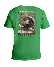 Strongest men become Welders V-Neck T-Shirt thumbnail