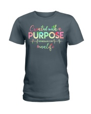 CNA: Created with a purpose Ladies T-Shirt front