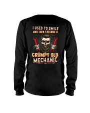 I used to smile then I became a mechanic Long Sleeve Tee tile