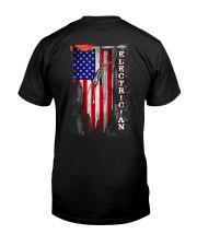 Proud American Electrician Flag Premium Fit Mens Tee thumbnail