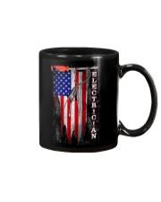 Proud American Electrician Flag Mug thumbnail