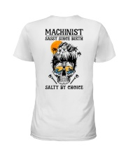 Machinist Salty by Choice Ladies T-Shirt back