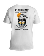 Machinist Salty by Choice V-Neck T-Shirt tile