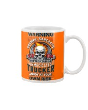 Warning: grumpy sarcastic unpredictable Trucker Mug tile