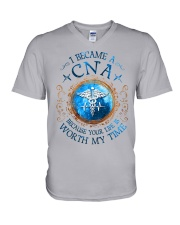 CNA because Your life is worth my time V-Neck T-Shirt thumbnail
