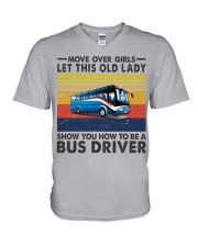 Old Lady will show how to be a Bus Driver V-Neck T-Shirt thumbnail