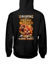 Postal Worker: Warning for Stupid People Hooded Sweatshirt thumbnail