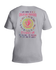 I was born to be a Childcare Provider V-Neck T-Shirt thumbnail