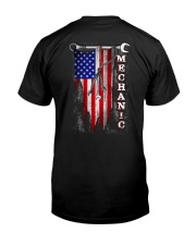 Proud American Mechanic flag Classic T-Shirt back