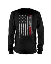 Proud American Electrician Flag Long Sleeve Tee thumbnail
