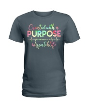 Dispatcher: Created with a purpose Ladies T-Shirt front