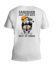 Caregiver Salty by Choice V-Neck T-Shirt thumbnail