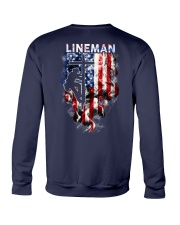Proud American Lineman Crewneck Sweatshirt thumbnail