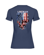 Proud American Lineman Premium Fit Ladies Tee thumbnail