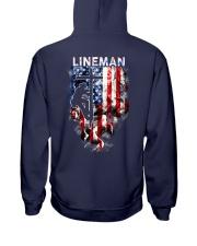 Proud American Lineman Hooded Sweatshirt back