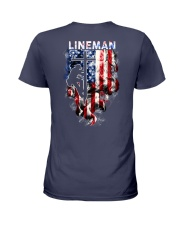 Proud American Lineman Ladies T-Shirt thumbnail