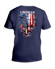 Proud American Lineman V-Neck T-Shirt thumbnail