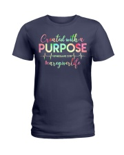 Caregiver: Created with a purpose Ladies T-Shirt front