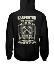 Carpenter: Hardest part of my job Hooded Sweatshirt tile