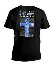Aircraft Mechanic Prayer V-Neck T-Shirt tile