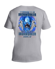 Until the real Ironworker shows up V-Neck T-Shirt thumbnail