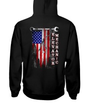 Proud American Elevator Mechanic Flag Hooded Sweatshirt thumbnail