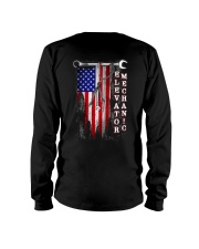 Proud American Elevator Mechanic Flag Long Sleeve Tee thumbnail