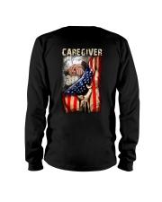 Proud American Caregiver Flag Long Sleeve Tee thumbnail