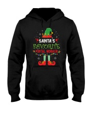 Santa's Favorite Postal Worker Hooded Sweatshirt thumbnail