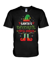 Santa's Favorite Postal Worker V-Neck T-Shirt thumbnail