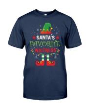 Santa's Favorite Waitress Classic T-Shirt front