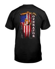 Proud American Operator Flag Classic T-Shirt back