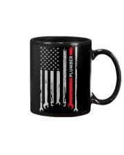 Proud American Plumber Flag Mug tile