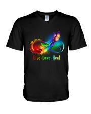 CNA: Live Love Heal V-Neck T-Shirt thumbnail