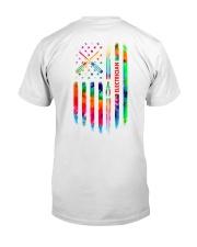 Proud Electrician Tie Dye US Flag Classic T-Shirt thumbnail