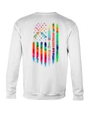 Proud Electrician Tie Dye US Flag Crewneck Sweatshirt thumbnail