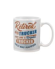 Retired Trucker just like regular only way happier Mug tile