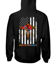 Proud American Medical Assistant Colourful Flag Hooded Sweatshirt thumbnail