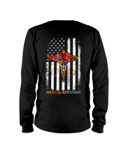 Proud American Medical Assistant Colourful Flag Long Sleeve Tee thumbnail