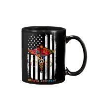Proud American Medical Assistant Colourful Flag Mug tile