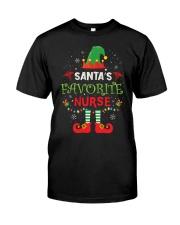 Santa's Favorite Nurse  Classic T-Shirt front
