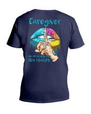 Caregiver Notices more than you realize V-Neck T-Shirt thumbnail