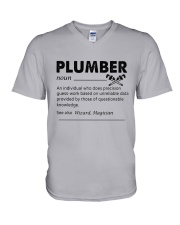 Plumber dictionary V-Neck T-Shirt thumbnail