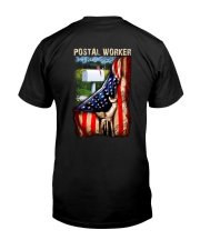 Proud American Postal Worker Flag Classic T-Shirt back
