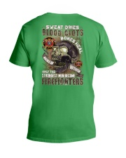 Strongest men become Firefighters V-Neck T-Shirt thumbnail