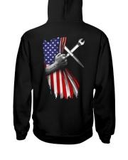 Ironworker US Flag Hooded Sweatshirt back