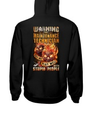 Maintenance Technician: Warning for Stupid People Hooded Sweatshirt thumbnail