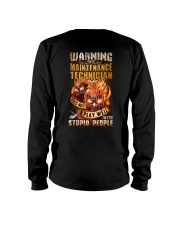 Maintenance Technician: Warning for Stupid People Long Sleeve Tee thumbnail