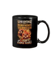 Maintenance Technician: Warning for Stupid People Mug thumbnail