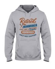 Retired Ironworker only way happier Hooded Sweatshirt thumbnail